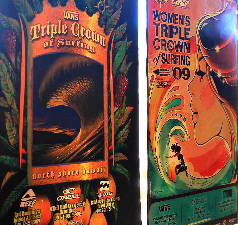 Triple Crown of Surfing Posters
