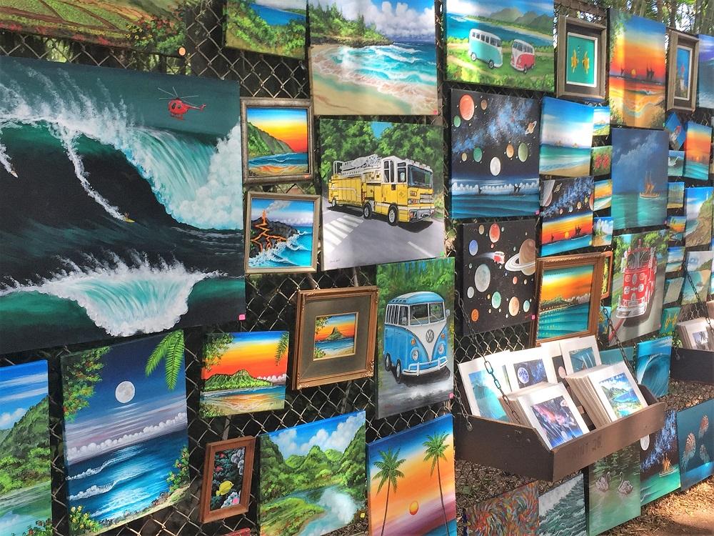 Waikiki Art on the Fence