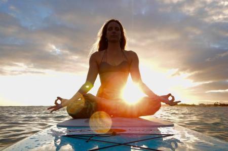 Paddle Board Yoga Lesson