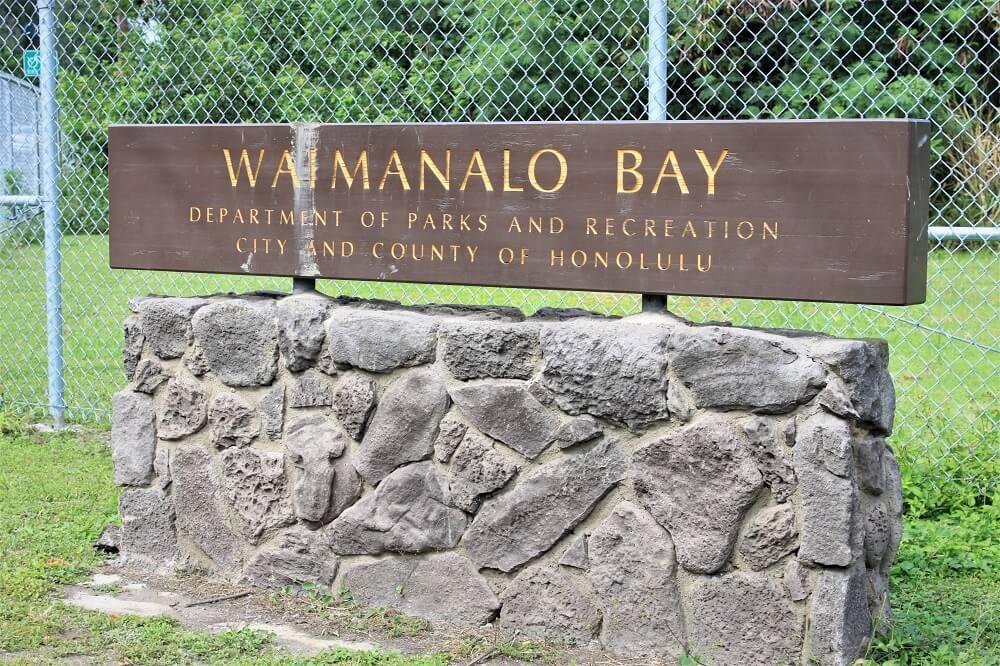 Waimanalo Bay Sign