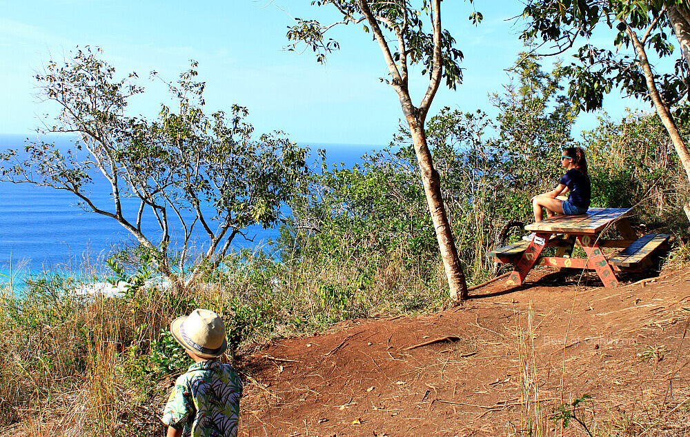 Ehukai Pillbox Trail Bench