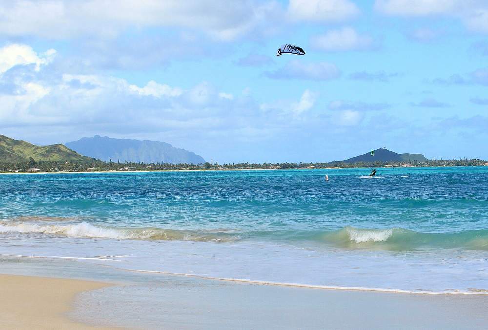 Kailua Beach Kite surfers