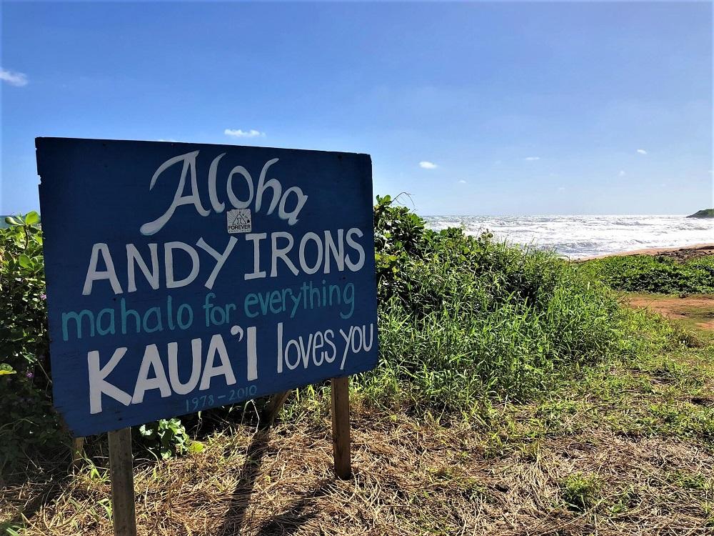 Andy Irons Kauai Sign