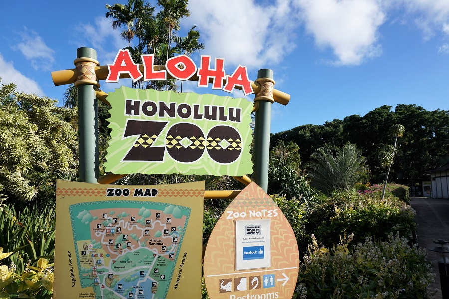 Honolulu Zoo Map
