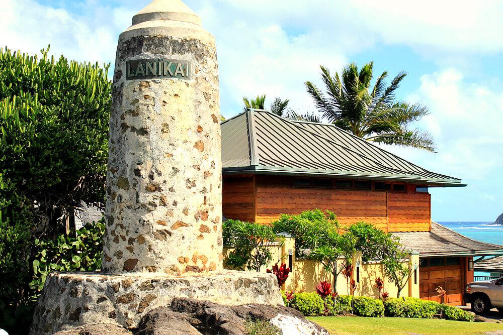 Lanikai Beach Sign