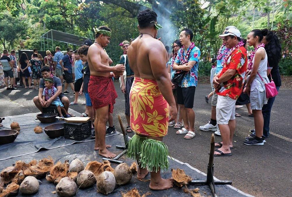 Toa Luau Coconut Husking Activity