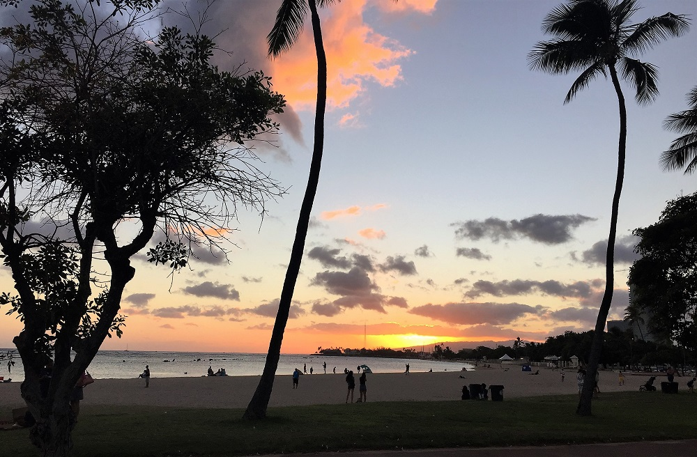 Ala Moana Beach Sunset