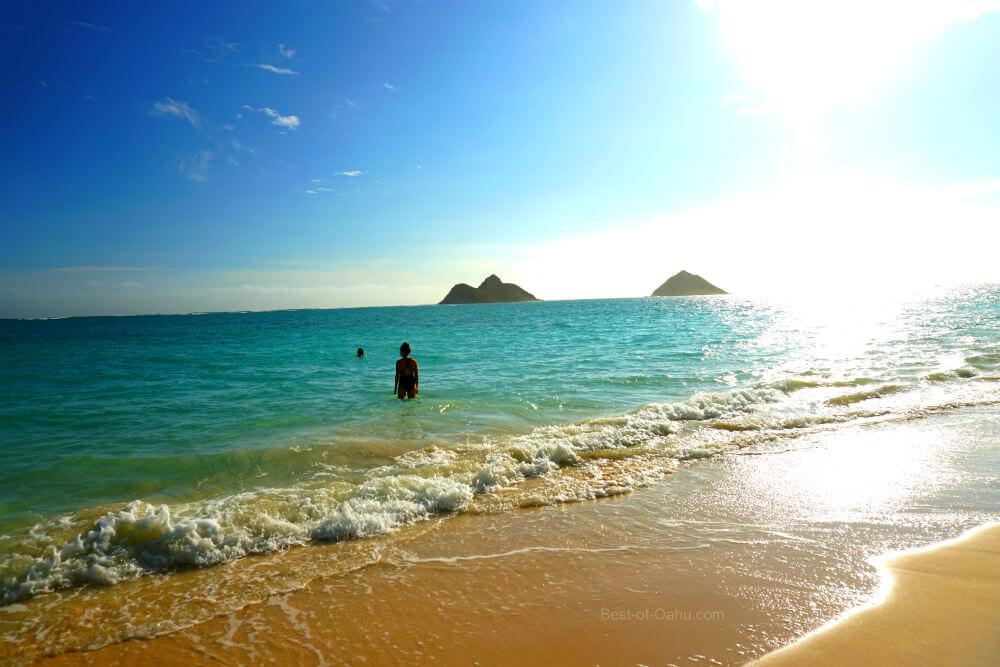 Lanikai Beach Swimming