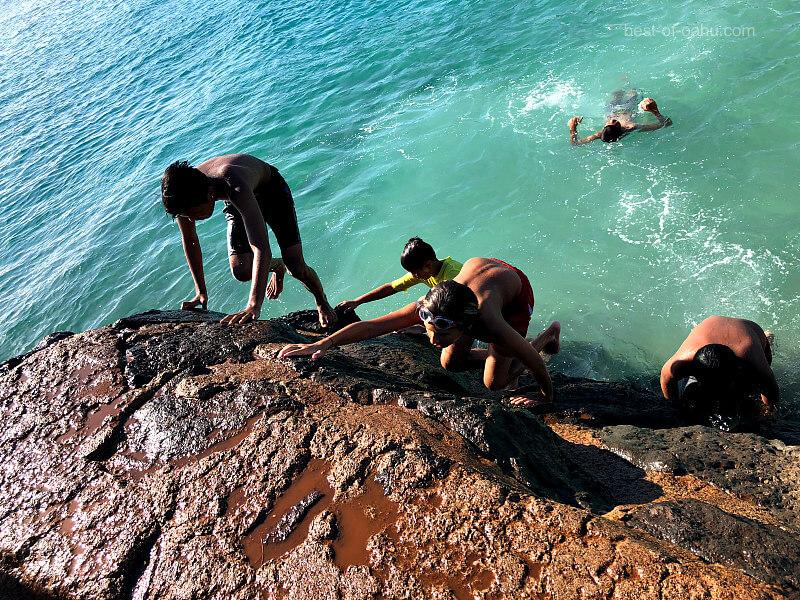 Ala Moana Beach Climbing Rocks