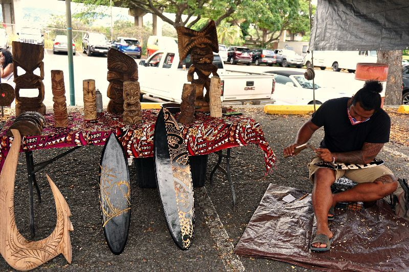 Aloha Stadium Swap Meet Wood Carver