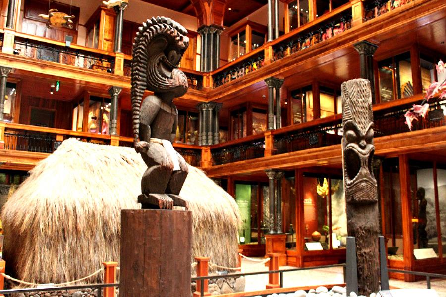 Bishop Museum Hawaiian Tiki Statues
