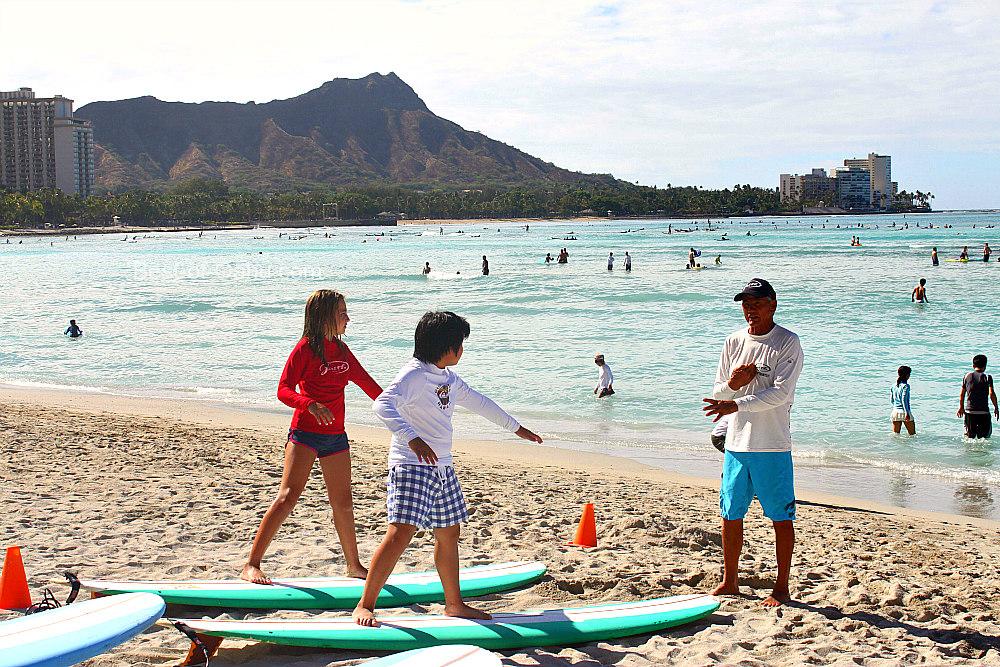Hawaiian Surfing in Waikiki