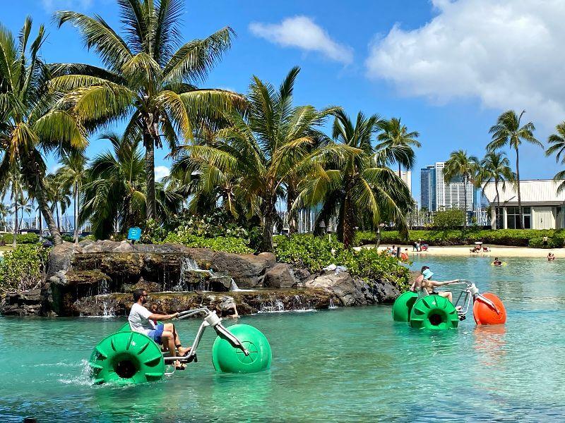 Hilton Hawaiian Lagoon Water Paddle Bike