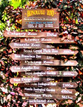 Honolulu Zoo Sign