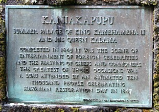 Kaniakapupu Sign