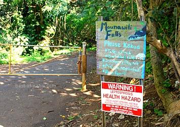 Maunawili Falls Sign