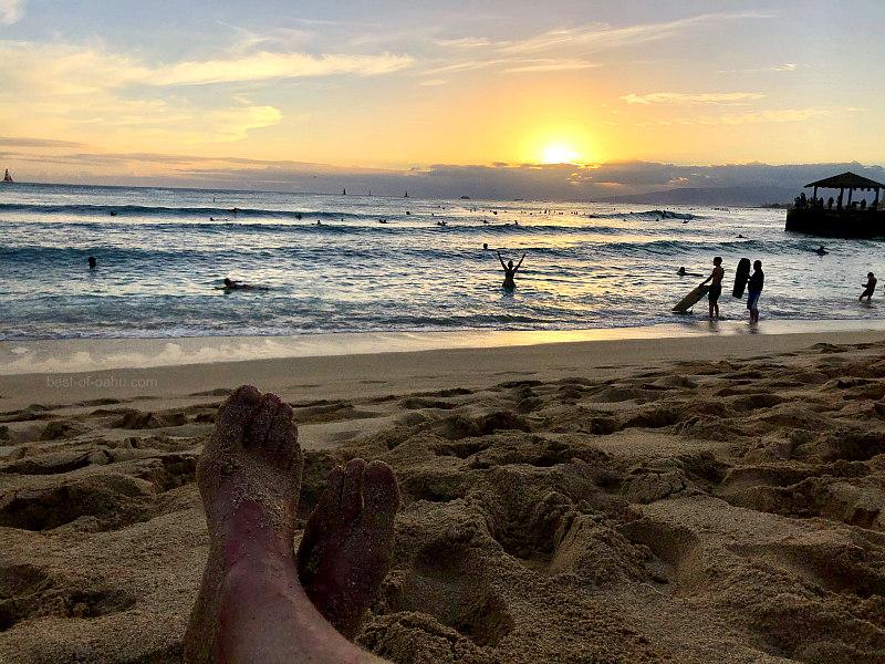 Queens Beach Sunset