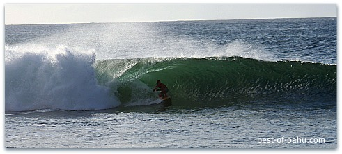 Surfing Pipeline Oahu