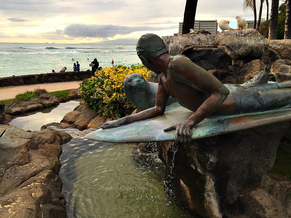 Waikiki Bronze Statues