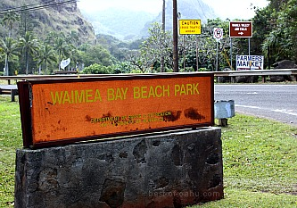 Waimea Bay Sign