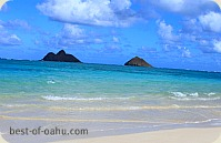 Lanikai Beach waters;