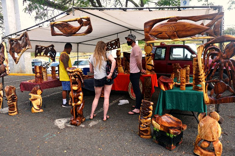 Aloha Stadium Swap Meet Wood Carvings