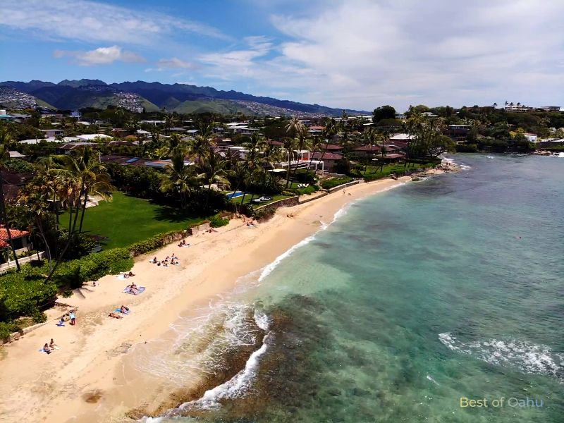 Diamond Head Beach Drone