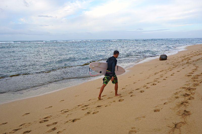 Diamond Head Beach Surfer