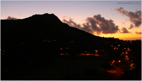 Diamond Head Sunset