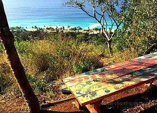 Sunset Beach Hike Bench