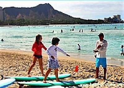 Hawaiian Surfing;