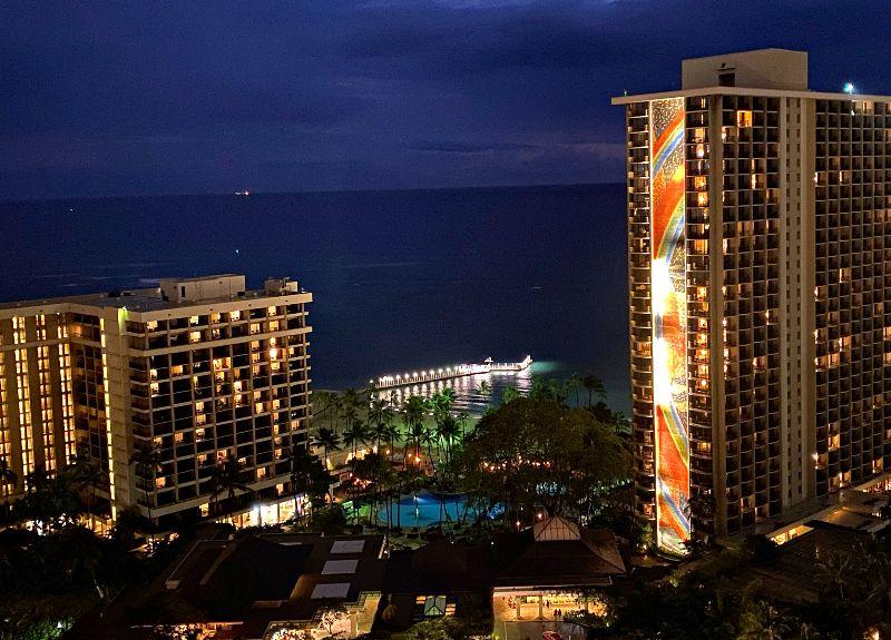 Hilton Hawaiian Village Night