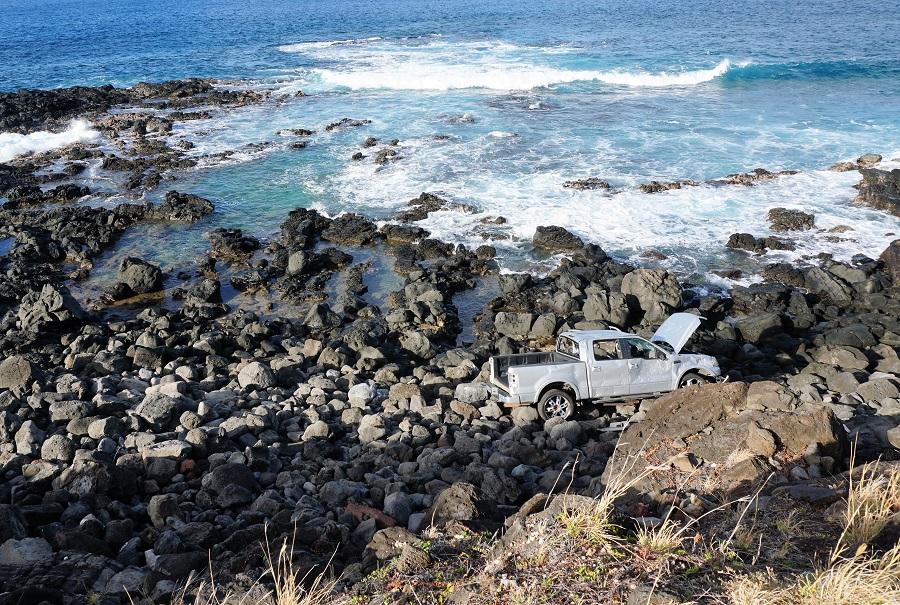 Kaena Point Abandoned Car