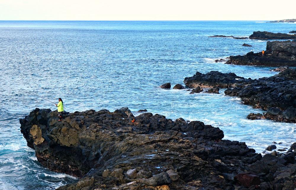 Kaena Point Fisherman