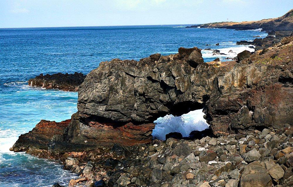 Kaena Point Puka Rock