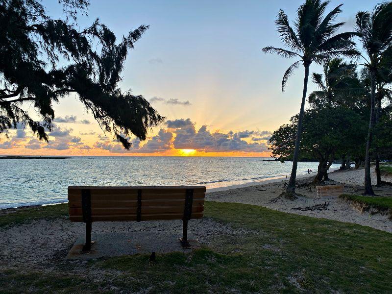 Kailua Beach Bench