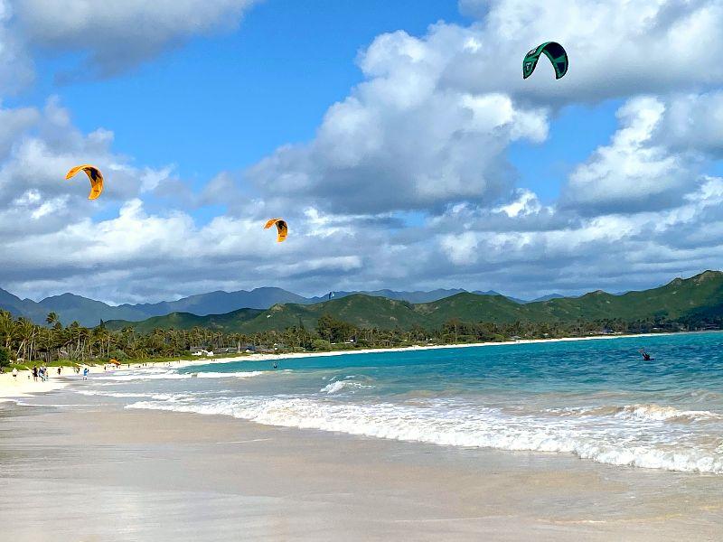 Kailua Beach Kite Surfers