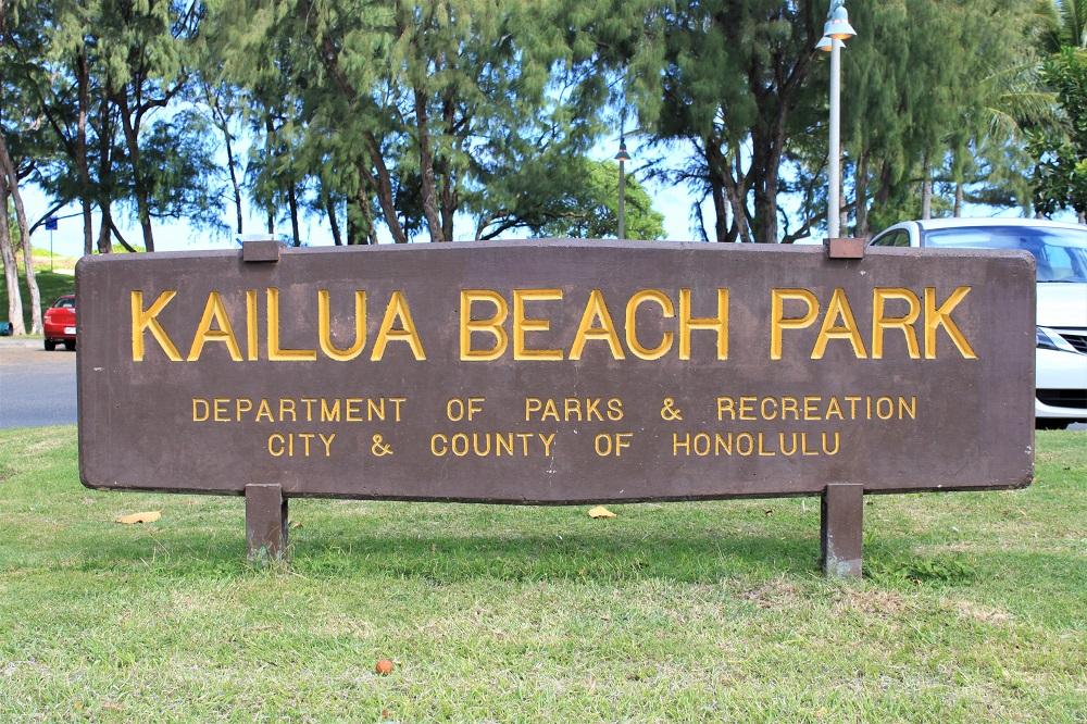 Kailua Beach Sign