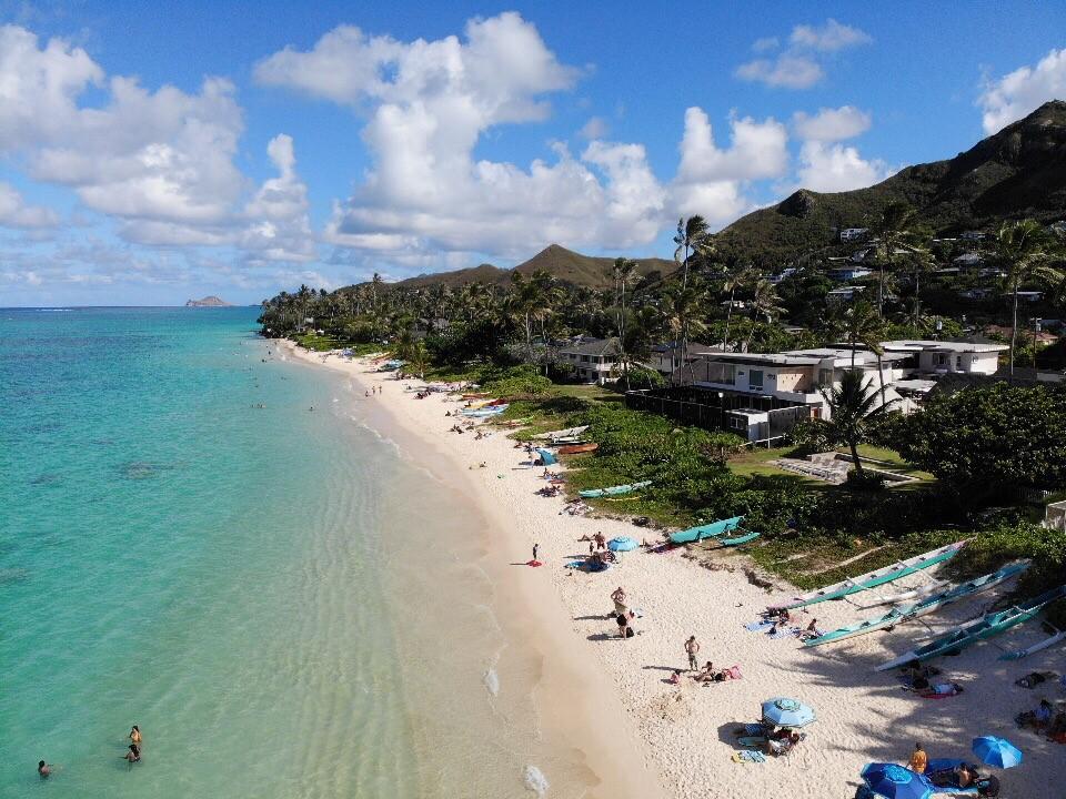 Lanikai Beach Drone
