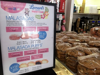 Leonards Bakery Malasada Sign