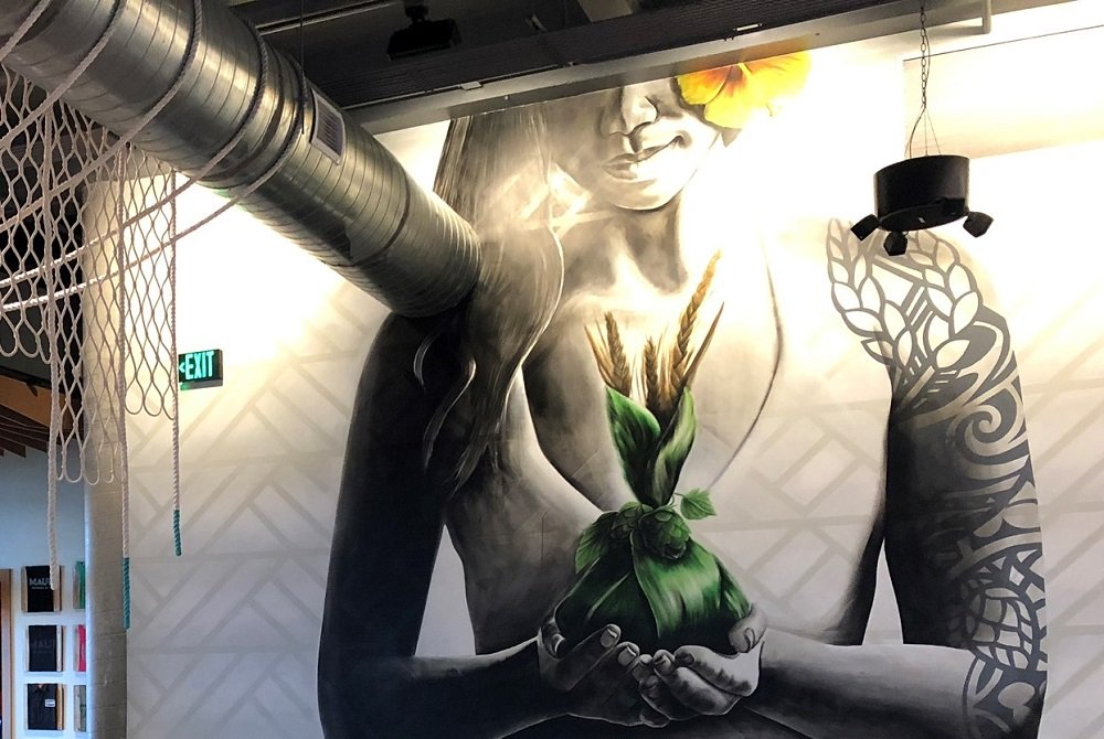 Maui Brewing Co Mural