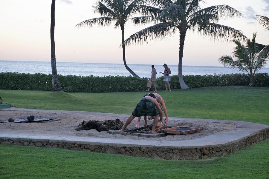 Kalua Pig Imu Ceremony