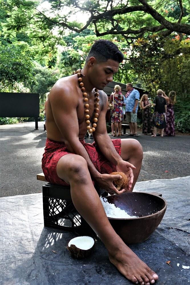 Toa Luau Coconut Shaving Activity
