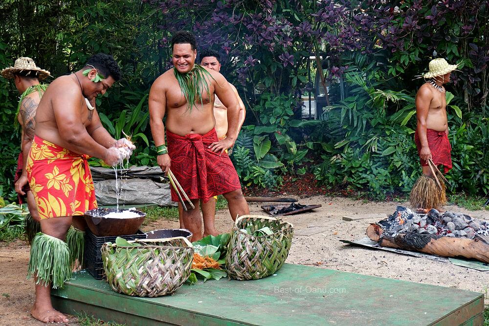 Toa Luau Feast Preparations