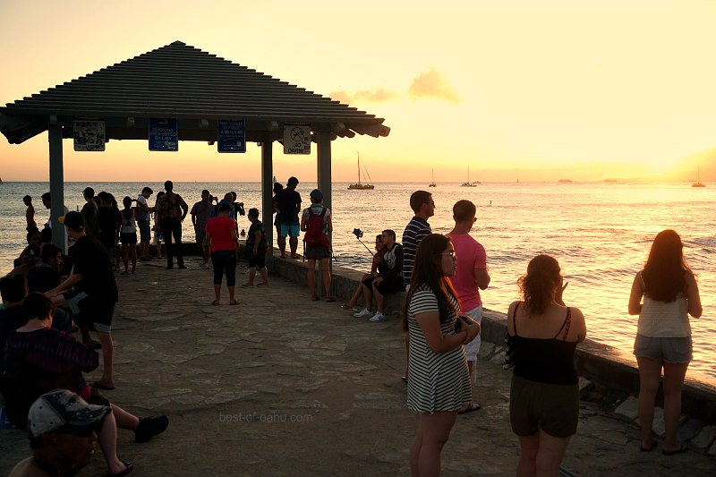 Waikiki Walls Sunset
