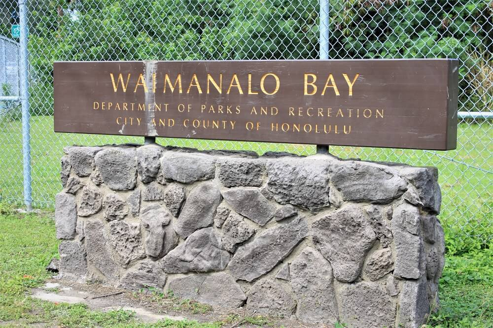Waimanalo Bay Sign