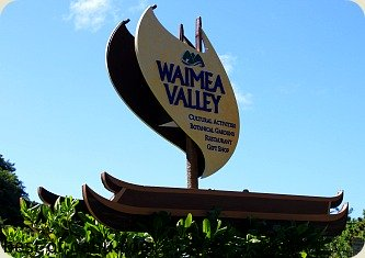 Waimea Valley Sign